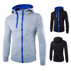 OEM plain mens tall hoodies with front zip