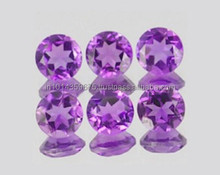 Prices of Round Cut Amethyst Corundum Gemstone Manufacture & Supply Wholesale