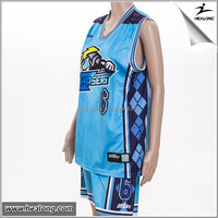 Healong Digital Print Discount basketball uniform green oem custom basketball uniform