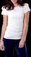 Women's Blank T-Shirt WHITE , 4.2 oz, 100% Cotton - Tagless