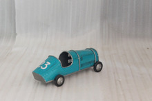 Blue Color Old and Vintage One Seater Car Model