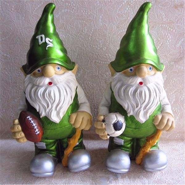 Cheap sports theme green mini garden gnome supplier