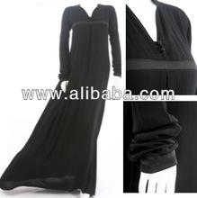 V- collo doppio botton una linea abaya