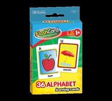 BAZIC Alphabet Preschool Flash Cards (36/Pack)