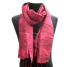 100% silk scarf, natural silk stole for women