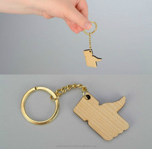 "Wooden handmade key chain ""Like"""