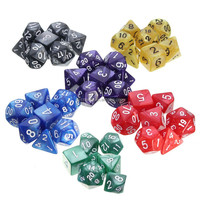 New Arrival 7pcs/Set Resin Polyhedral TRPG Games For Dungeons Dragons Opaque D4-D20 Multi Sides Dice Pop for Game Gaming