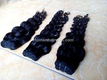 Wholesale 100% Unprocessed virgin vietnam hair, Brazilian hair, curly weft hair high quality