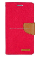 PU diary case Mercury Canvas PU leather diary case (Red Camel)