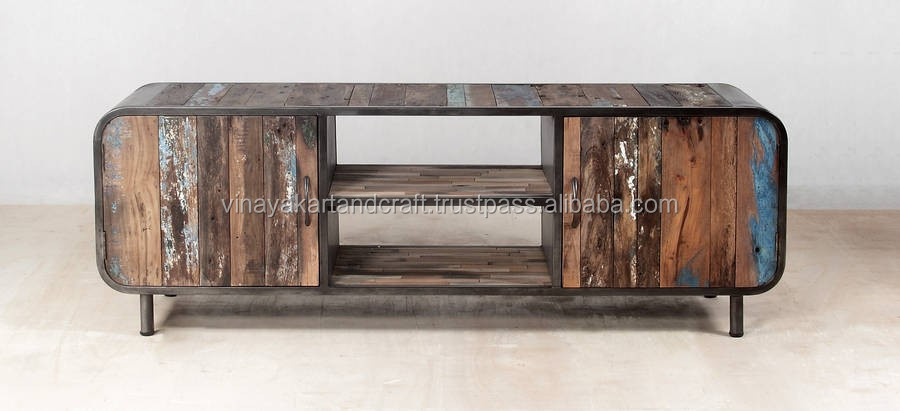 Industrial Style Wooden Tv Stand,Vintage Tv Stand - Buy ...