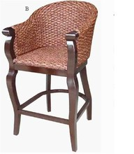 Bar chair,bed water hyacinth ,Set of armchair and stool(1 armchair and 1 stool )