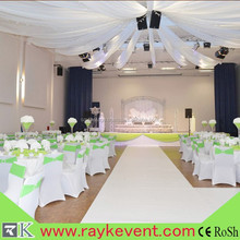 RK factory lace wedding backdrop pipe and drape used