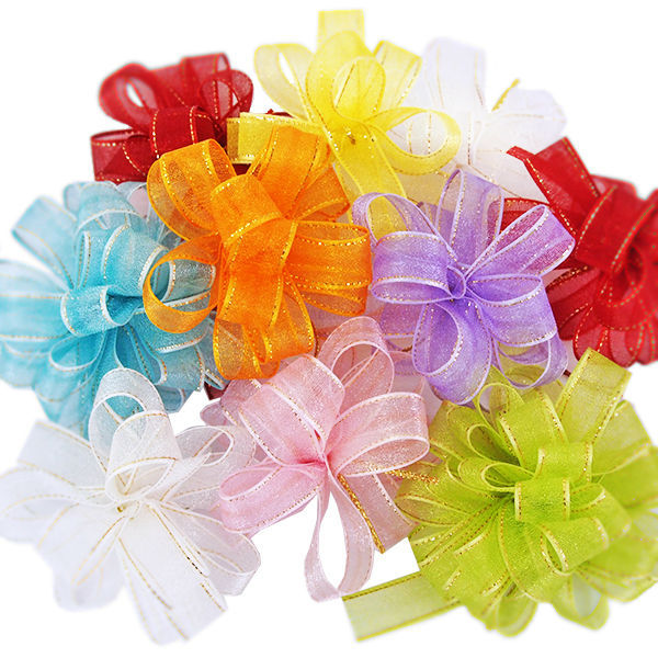 Great quality pull bow organdy ribbon flowers for gift wrappingall o1 mightylinksfo
