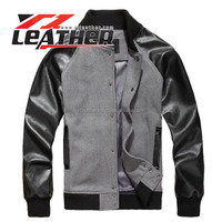 High Quality Men's varsity jacket,jacket in new model leather sleeve
