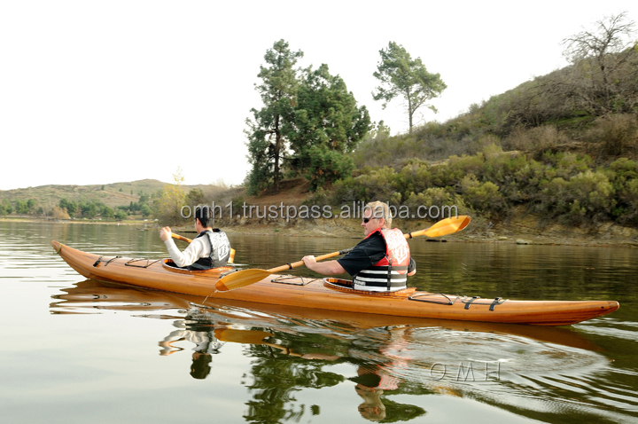 Double Seat Wooden Kayak High Quality