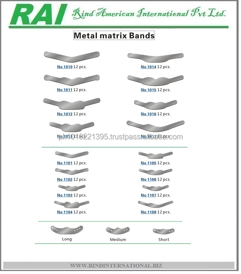 Dental Stainless Steel Tofflemire Matrix Bands 172635037 on orthopedic system