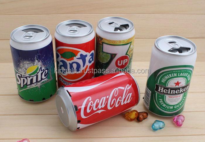 Cans Shape speakers Portable Coke Speaker