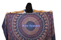 KT-666 New Cotton Handmade printed Tapestries Bohemian Bedspread Elephant Hippie
