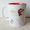 11oz 2tones Ceramic Mug with Cute Girl & her dog