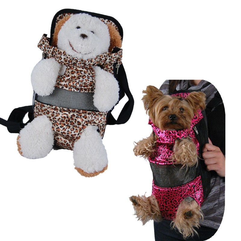 Small Dogs Leopard Front Bag Pet Travel Carrier
