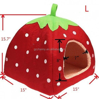 Lovely Sweet Strawberry Shape Dog Bed With A Warm Wind Effect Pet Waterloo A Mat Five Colors S/M/L