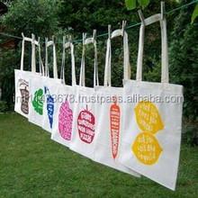 multi color/general purpose elegant cotton canvas tote bag wholesale 2014-15