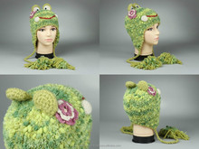 "Knitted hat ""Frog"""