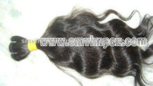 100%unprocess natural indian virgin quality hair extension natural wave texture brown color quality remy hair