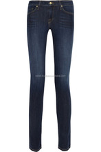 Most popular classical big size light blue men's skinny jeans