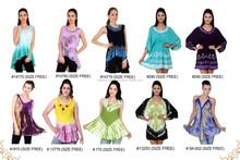 Rayon Viscose Blouse Top tie dye batik for women