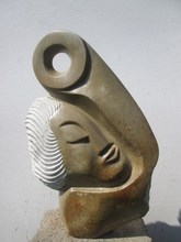 Hand carved African stone scupture art