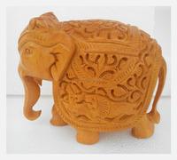 wooden Elephant Jaipur Handmade Statue Sculpture India Rich Art And Craft Rajasthan Animal Figure Lion