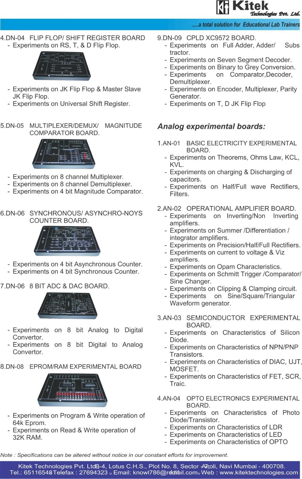 Electronics Lab Trainer Kit Vocational Training Digital 5v To 12v Inverting Switching Regulator Electronicslab Kms 01 Pag 2