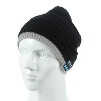 Special Christmas Gift Bluetooth Music with Mic Sports Warm Knitted Hat Earphone