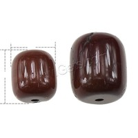 Yolk Stone Bead Column natural different size for choice red Sold By PC