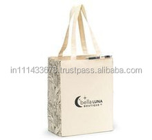 fancy designer canvas cotton tote bag with rope handle wholesale