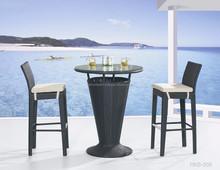 Venta caliente exterior de la rota Bar Set muebles - poli Rattan Bar Stool