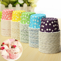 Wholesale 20pcs Baking Cups Dots Original Mini Round Cake Paper Holds Kitchen Cupcake Cases Mould ECO-Friendly