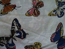 Beautiful new butterfly design pattern sceen printed womans & girls wear garments fabric