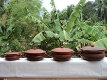 in cotto di argilla curry ciotola con maniglia
