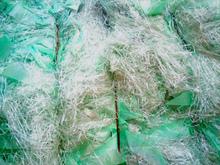 PES film cutting edges baled recycled plastic scraps
