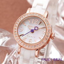 Lady Casual Bracelet Fashion Jewelry Watches Women Brass Case W Ceramic Strap Water Resistant Brand New Paul Brial Made in Korea