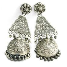Jaipur Jhumka !! Oxidized Plain Silver 925 Sterling Silver Earring, Jaipur Jhumka, Silver Jhumka Earring