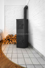 Freestenading wood burning steel stove ACKERMAN W5C with cast iron doors