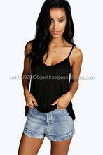 customized single color tank top, sleeveless Women T shirt