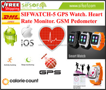 SIFWATCH-5 Accurate Heart Rate Monitor watch, calendar, alarm, clock, calculator, Email, Play store pedometer WiFi