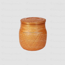 bamboo basket natural material newest design round shape dark brown color bamboo storage basket