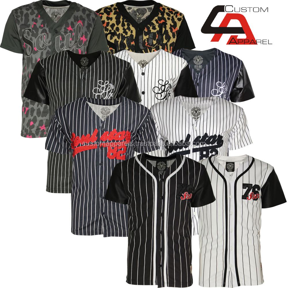 Baseball Jersey no Buttons Button Down Baseball