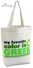JNbags Fashional Eco Friendly Reusable Cotton Canvas Shopping Grocery Bag