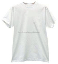 100% cotton white Plain white crew neck t shirt